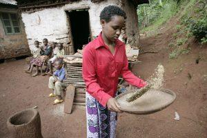 Woman Prepares Beans